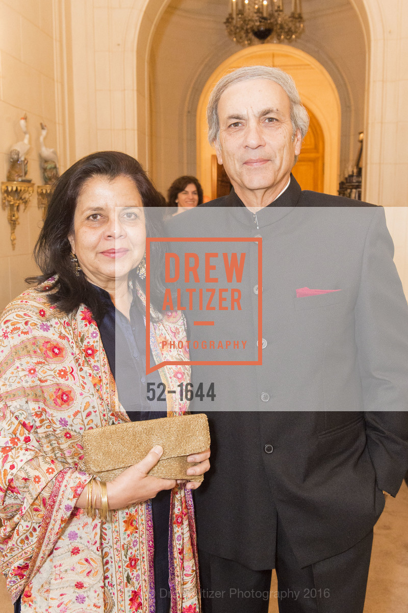 Shayla Misra, Madhav Misra, Ann and Gordon Getty Host the San Francisco Mayor's Office of Protocol Christmas Party, Private Residence. 2525 Van Ness St, December 8th, 2016