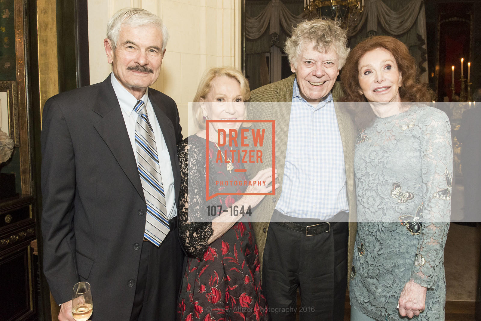 Victor Revenko, Charlotte Shultz, Gordon Getty, Ann Getty, Ann and Gordon Getty Host the San Francisco Mayor's Office of Protocol Christmas Party, Private Residence. 2525 Van Ness St, December 8th, 2016