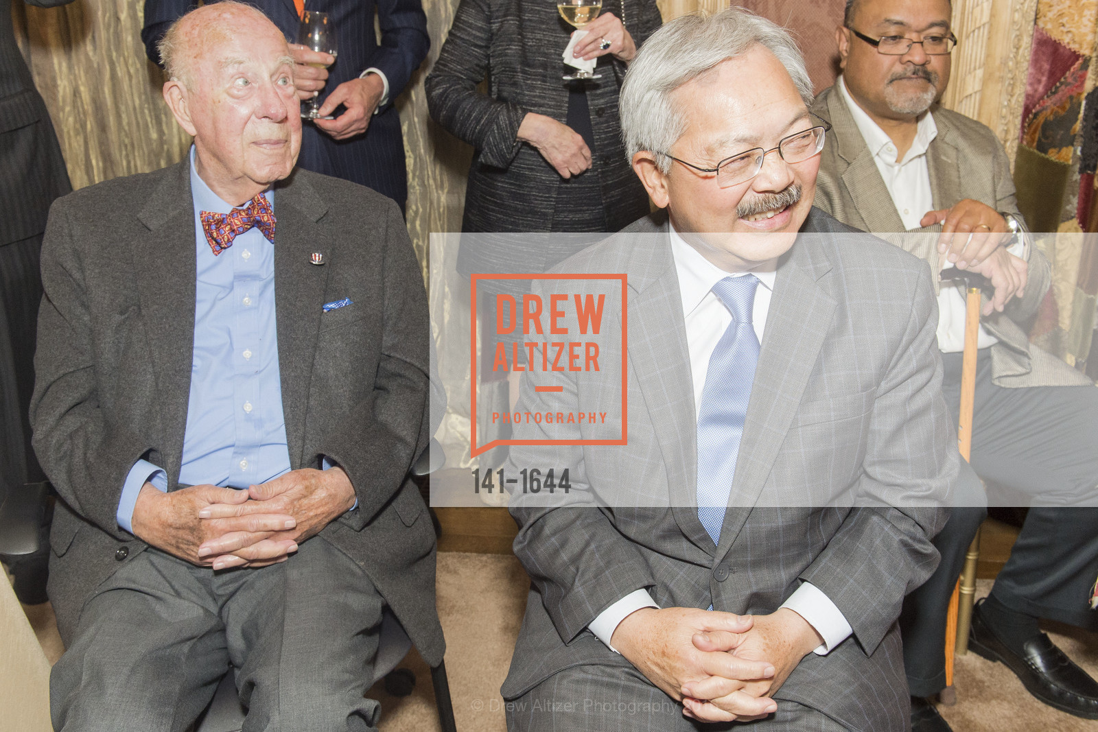 George Shultz, Ed Lee, Ann and Gordon Getty Host the San Francisco Mayor's Office of Protocol Christmas Party, Private Residence. 2525 Van Ness St, December 8th, 2016