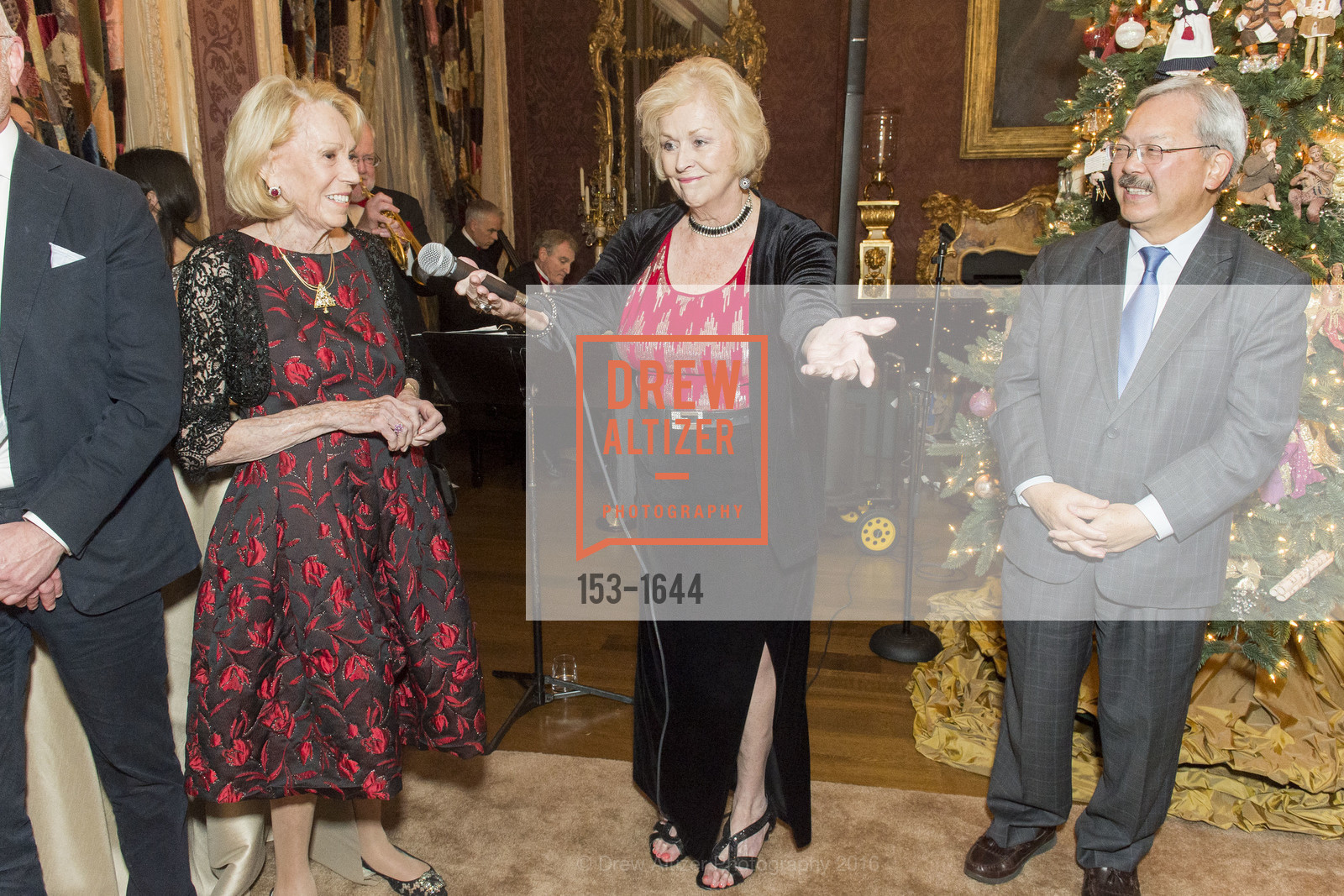 Ed Lee, Ann and Gordon Getty Host the San Francisco Mayor's Office of Protocol Christmas Party, Private Residence. 2525 Van Ness St, December 8th, 2016