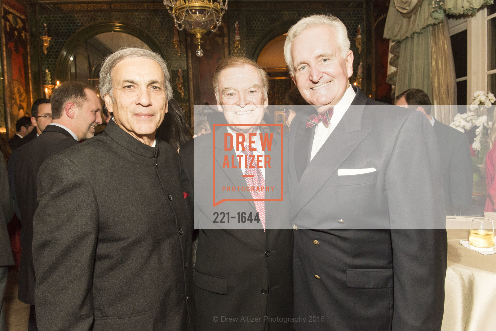 Madhav Misra, Frank Jordan, Jim Curley, Ann and Gordon Getty Host the San Francisco Mayor's Office of Protocol Christmas Party, Private Residence. 2525 Van Ness St, December 8th, 2016