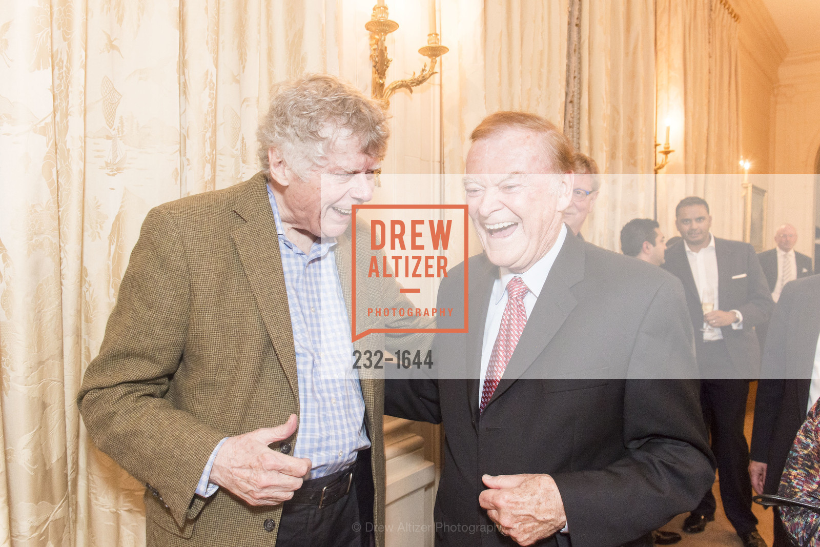 Gordon Getty, Frank Jordan, Ann and Gordon Getty Host the San Francisco Mayor's Office of Protocol Christmas Party, Private Residence. 2525 Van Ness St, December 8th, 2016