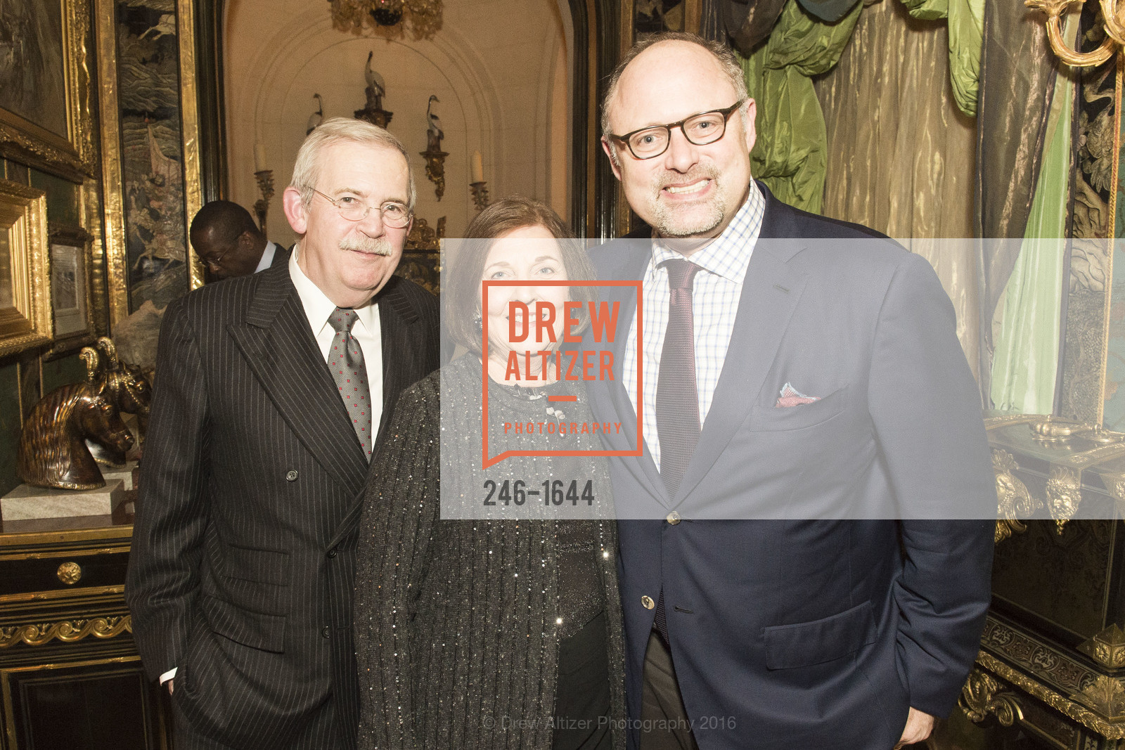 Richard Johns, Eleanor Johns, Jonathan Moscone, Ann and Gordon Getty Host the San Francisco Mayor's Office of Protocol Christmas Party, Private Residence. 2525 Van Ness St, December 8th, 2016