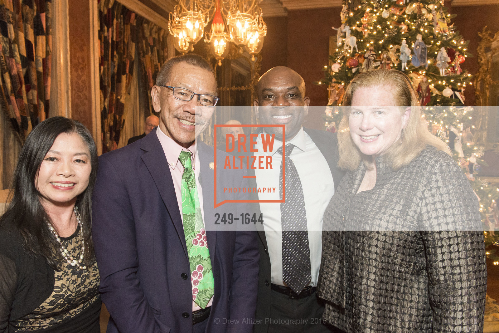 Cathy Yee, Norman Yee, Tony Chaplin, Joanne Hayes-White, Ann and Gordon Getty Host the San Francisco Mayor's Office of Protocol Christmas Party, Private Residence. 2525 Van Ness St, December 8th, 2016