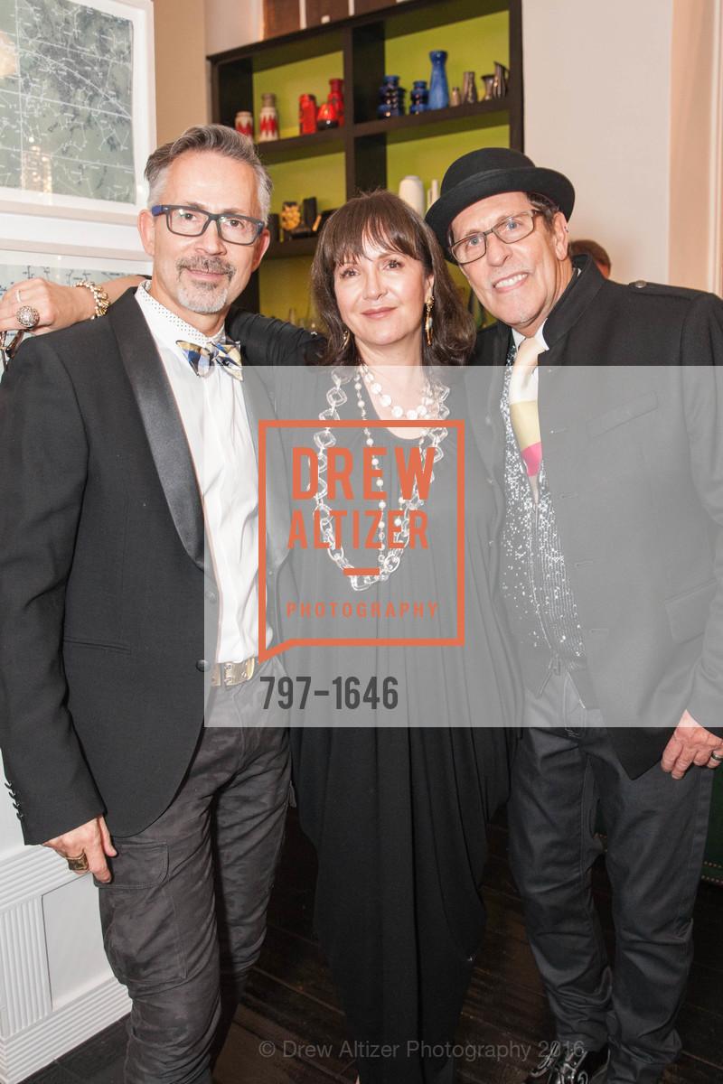 Guenter Frivert, Claudia Juestel, Glenn De Mattia, Adeeni Design Galerie Opening, Adeeni Design Group. 664 Post Street, December 8th, 2016