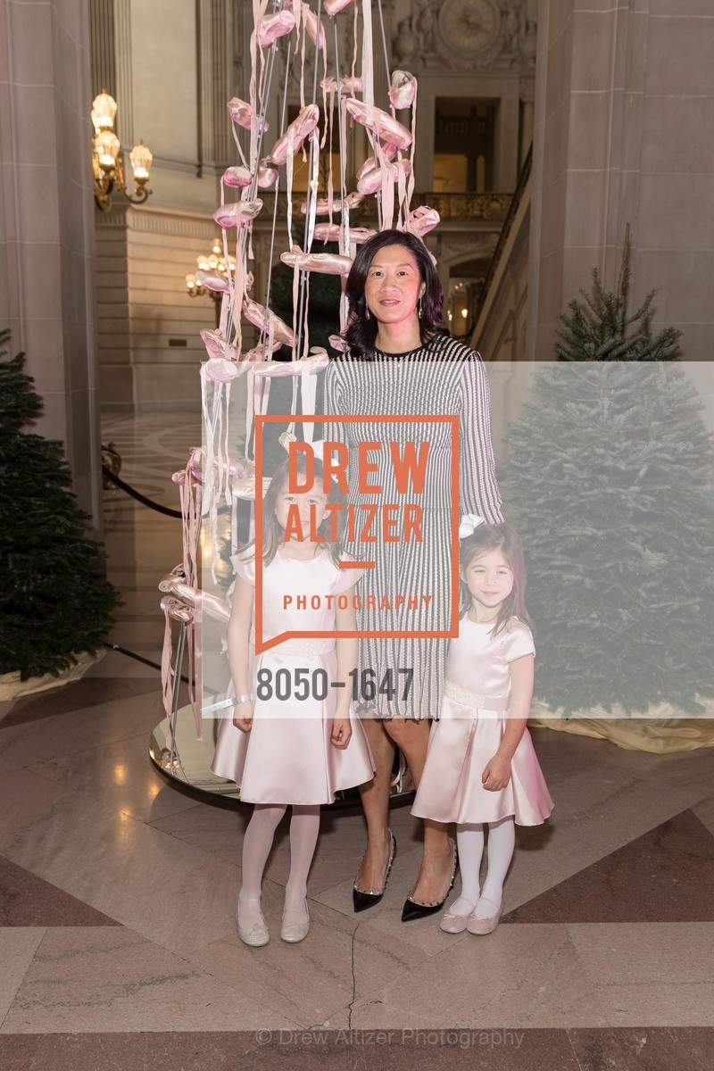 Caroline Leong Connors, Christine Leong Connors, Charlotte Leong Connors, SF Ballet's Nutcracker Luncheon, City Hall & War Memorial Opera House. 301 Van Ness Ave, San Francisco, CA 94109, December 11th, 2016