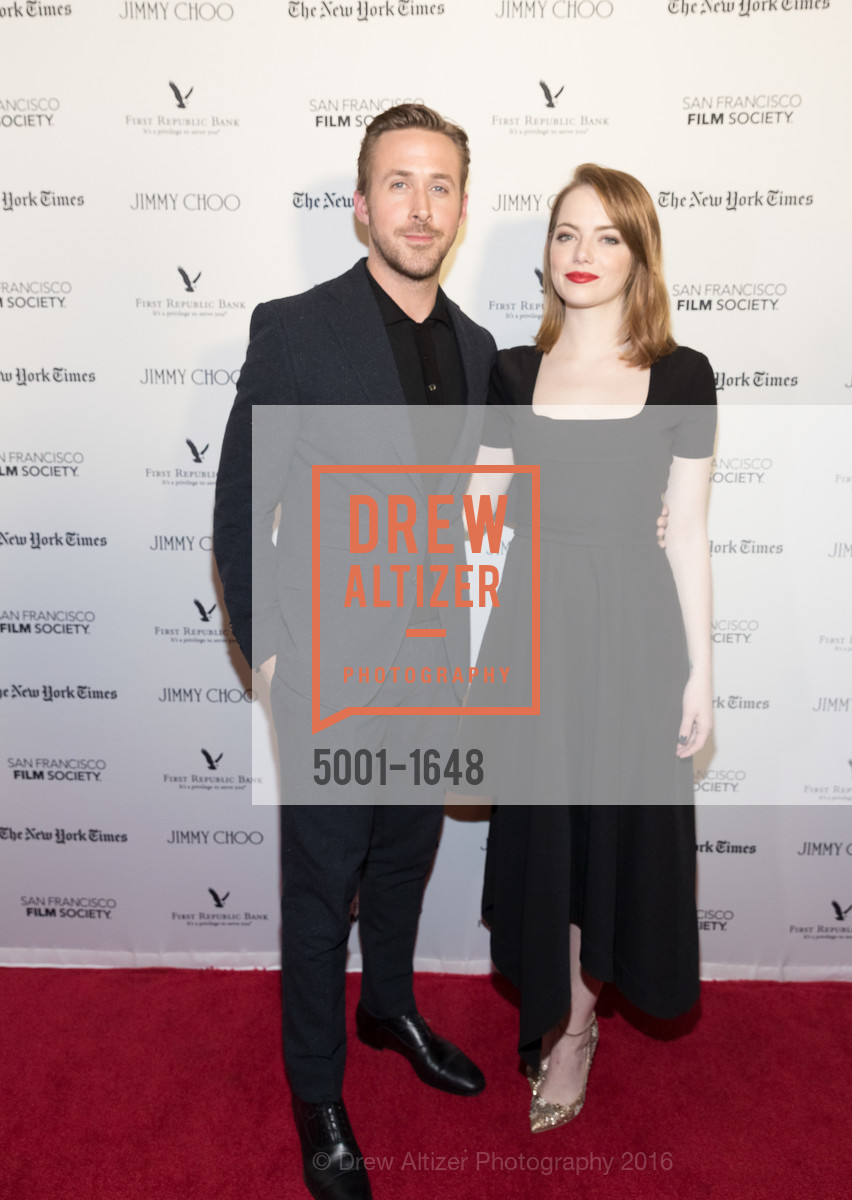 Ryan Gosling, Emma Stone, SF FILM SOCIETY PRESENTS SF HONORS: 'LA LA LAND', The Castro Theatre, Mezzanine level. 429 Castro Street, December 8th, 2016