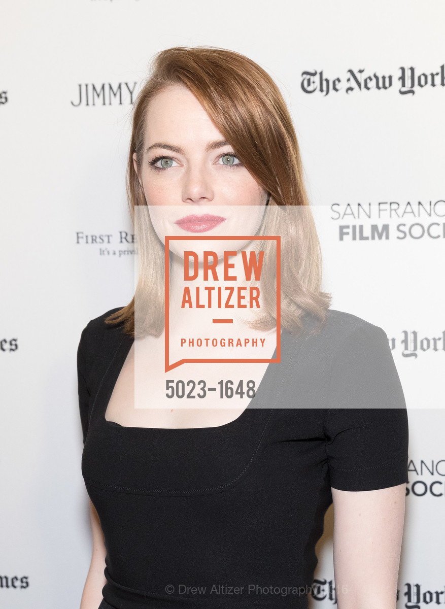 Emma Stone, SF FILM SOCIETY PRESENTS SF HONORS: 'LA LA LAND', The Castro Theatre, Mezzanine level. 429 Castro Street, December 8th, 2016