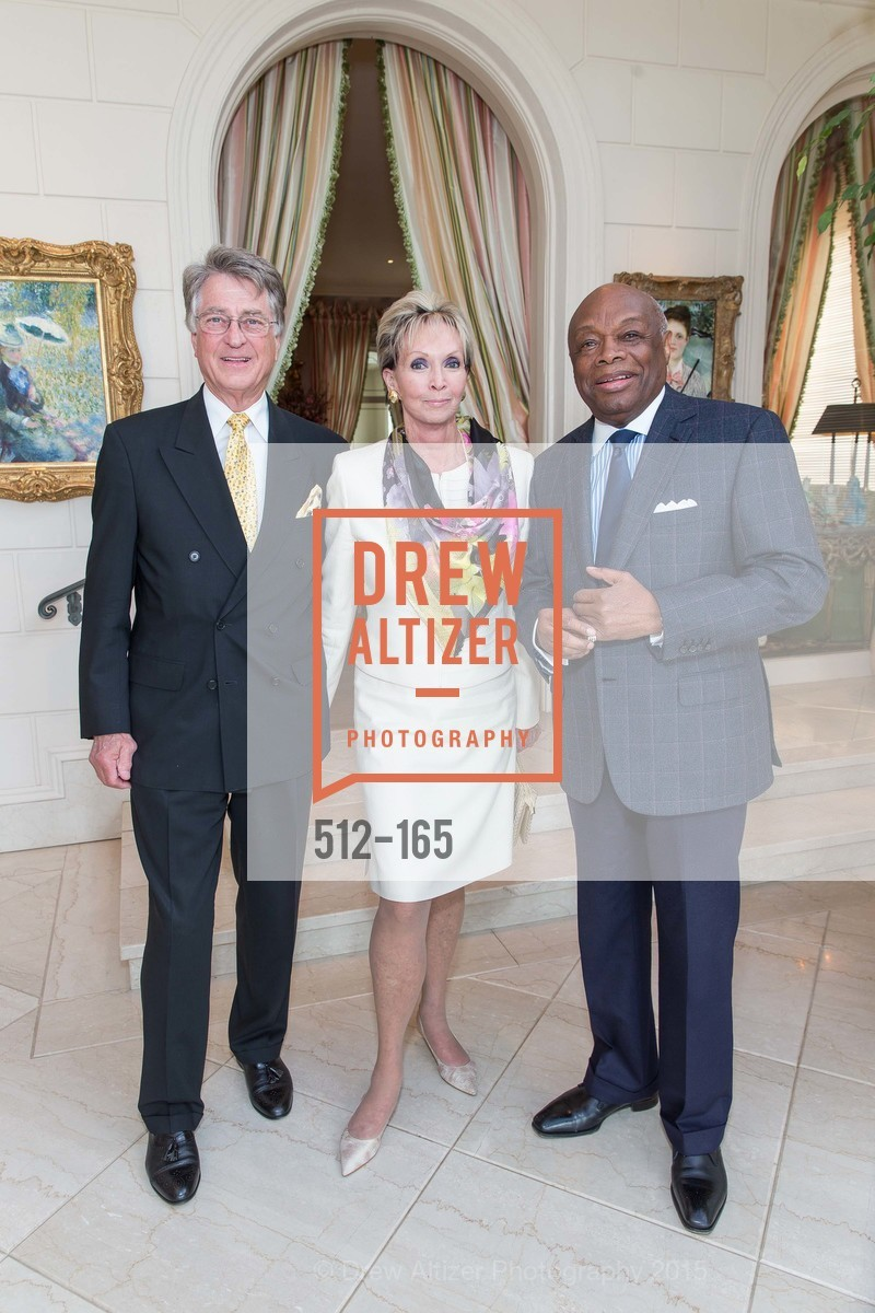 Leon Huntting, Sallie Huntting, Willie Brown, Opera Ball 2015 Benefactor Party Hosted By Diane Wilsey, Private residence, June 16th, 2015,Drew Altizer, Drew Altizer Photography, full-service agency, private events, San Francisco photographer, photographer california