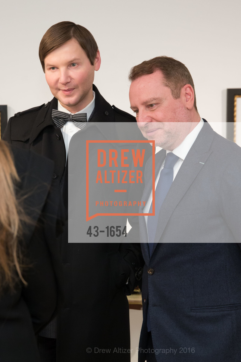 Ivan Bekichev, Serge Sorokko, Sorokko Gallery Hosts Coveted Jewels by Codognato Private Reception, Serge Sorokko Gallery. 55 Geary St., San Francisco, December 8th, 2016
