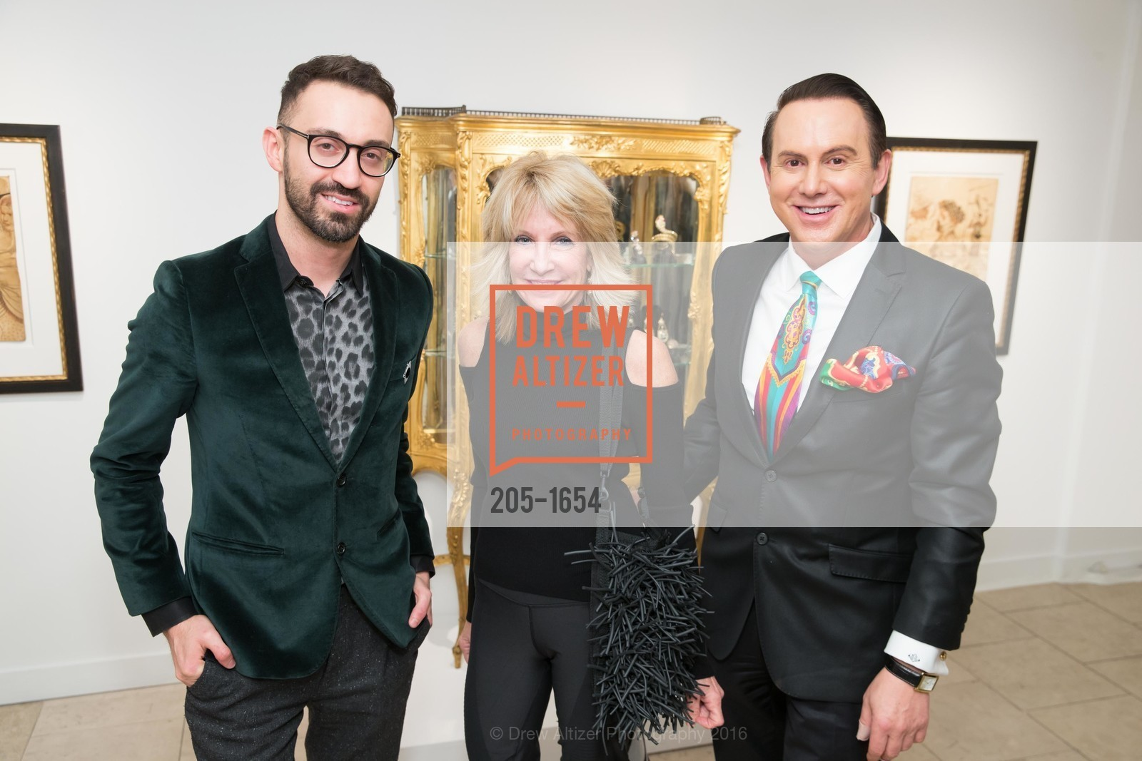 Stephen Rabinov, Sandy Mandel, Joel Goodrich, Sorokko Gallery Hosts Coveted Jewels by Codognato Private Reception, Serge Sorokko Gallery. 55 Geary St., San Francisco, December 8th, 2016