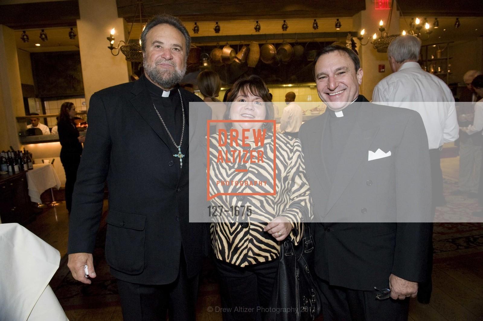 Father John Bakas, Valerie Metrakos, Father Aris Metrakos, Photo #127-1675