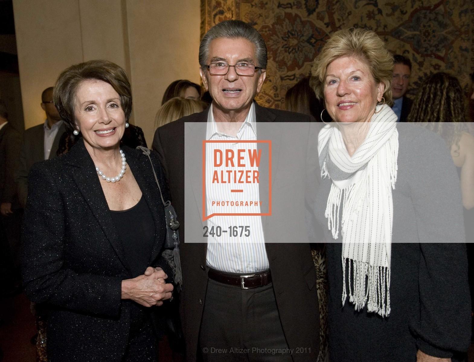 Nancy Pelosi, George Marcus, Judy Marcus, Photo #240-1675