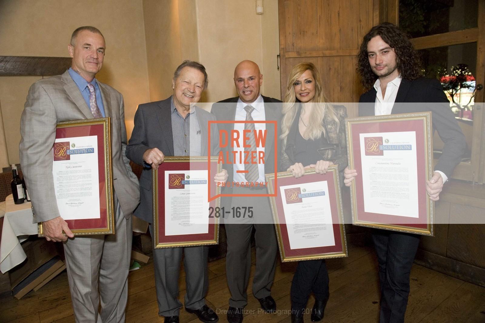 Nick Cassavetes, Louie Gundanas, Tony Saris, Anna Vissi, Constantine Maroulis, Photo #281-1675