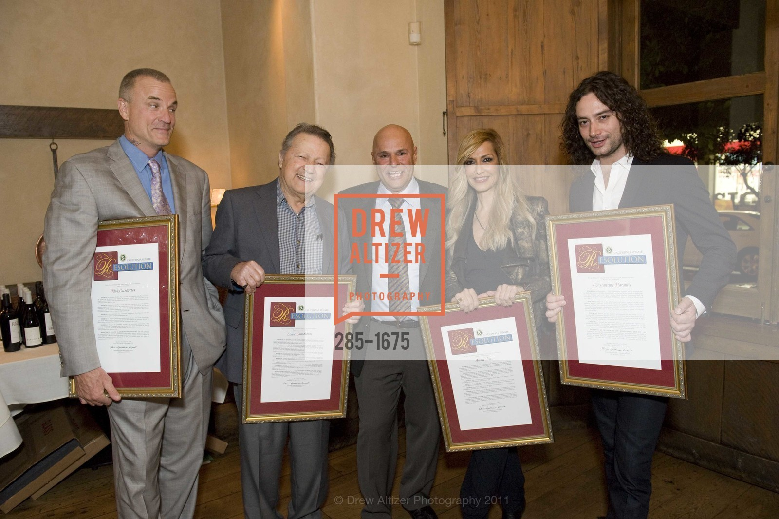 Nick Cassavetes, Louie Gundanas, Tony Saris, Anna Vissi, Constantine Maroulis, Photo #285-1675