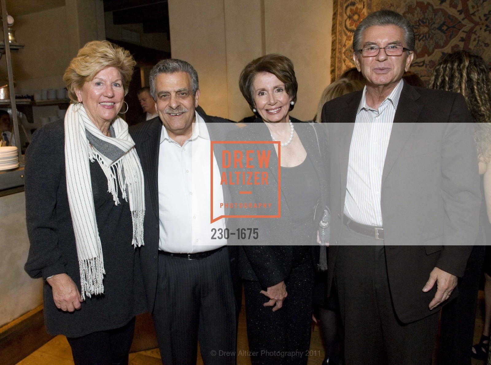 Judy Marcus, Kenny Frangadakis, Nancy Pelosi, George Marcus, Photo #230-1675