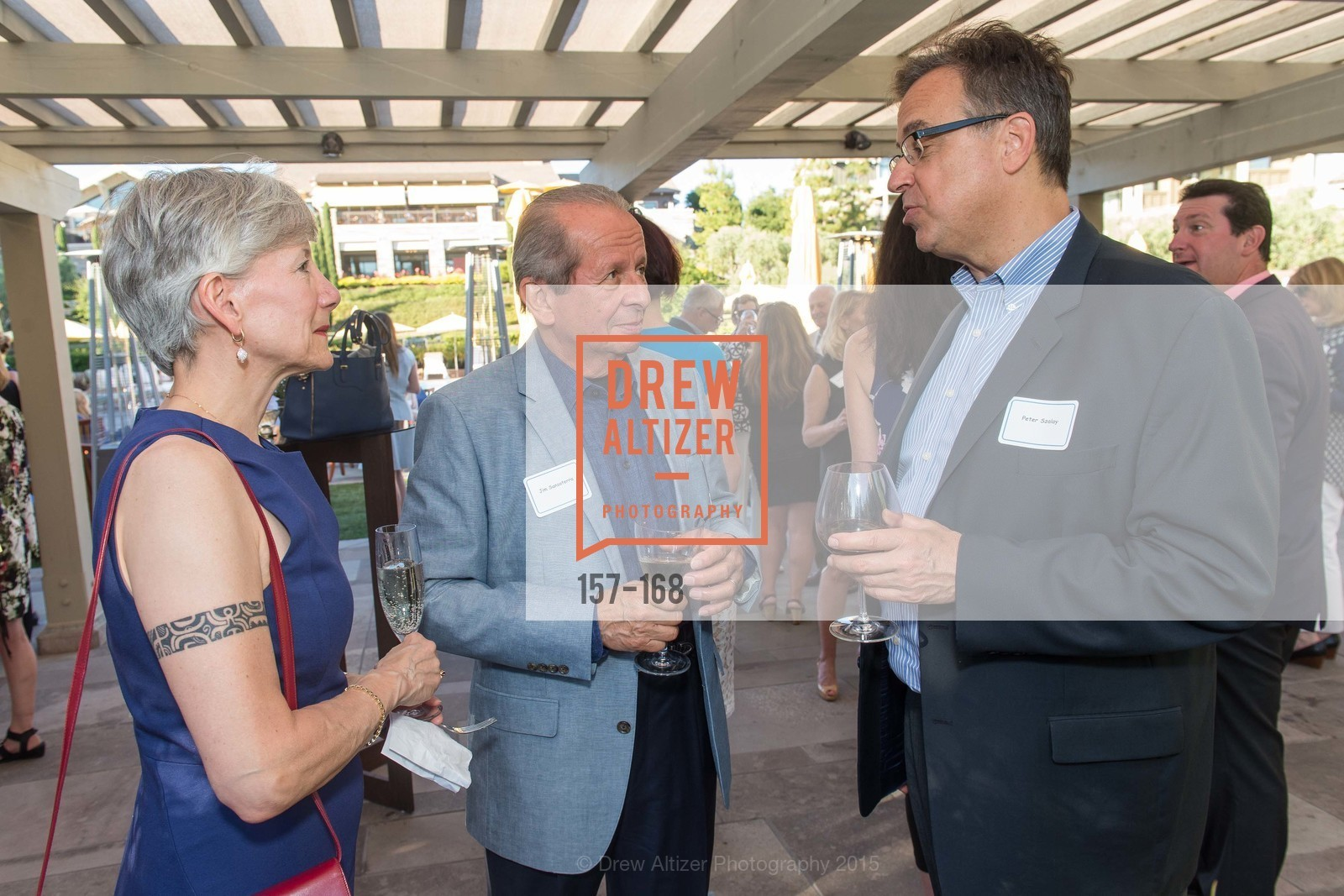 Wendy Baum, Joe Sansoterra, Peter Szalay, Menlo Charity Horse Show Sponsor Party , Rosewood Resort and Spa. 190 Park Lane, June 15th, 2015