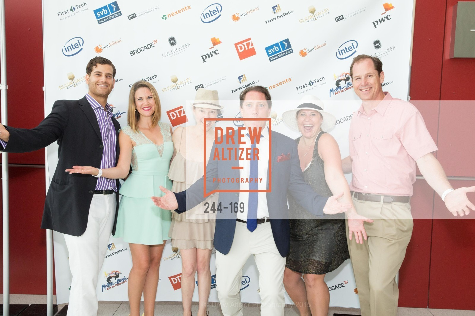 Daniel Sharabi, Sophie Sharabi, Alex Skillman, Liam Mayclem, Lindsey Stevens, Silicon Valley Wine Auction Benefiting Silicon Valley Education Foundation, Levi's Stadium. 4900 Marie P. DeBartolo Way, June 19th, 2015,Drew Altizer, Drew Altizer Photography, full-service agency, private events, San Francisco photographer, photographer california
