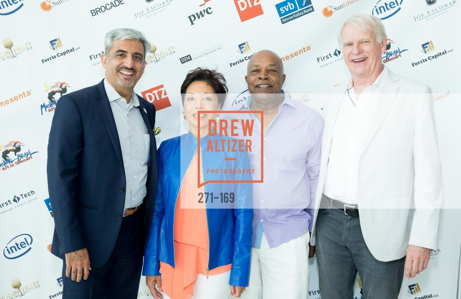 Muhammed Chaudhry, Caretha Coleman, Ken Coleman, Dave House, Silicon Valley Wine Auction Benefiting Silicon Valley Education Foundation, Levi's Stadium. 4900 Marie P. DeBartolo Way, June 19th, 2015,Drew Altizer, Drew Altizer Photography, full-service agency, private events, San Francisco photographer, photographer california