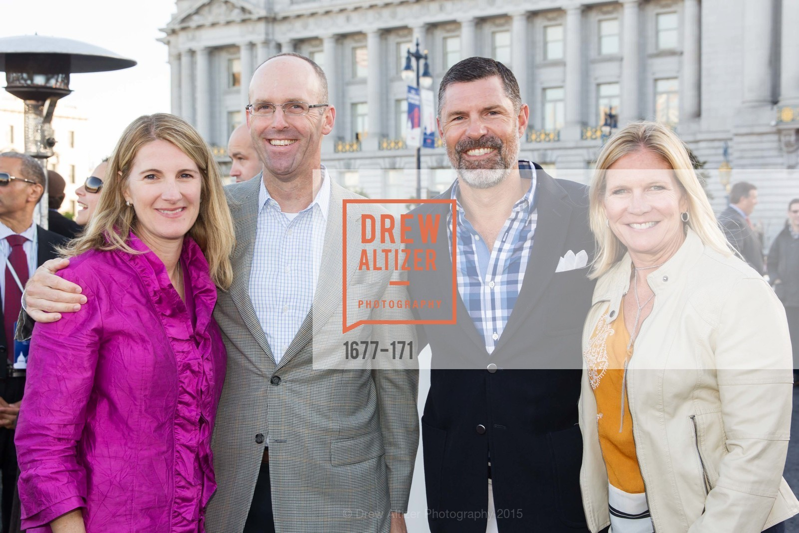 Pam Nootbaar, Joe Nootbaar, Stephen Watkins, Carol Watkins, San Francisco City Hall Centennial Celebration, Civic Center Plaza, June 18th, 2015,Drew Altizer, Drew Altizer Photography, full-service agency, private events, San Francisco photographer, photographer california