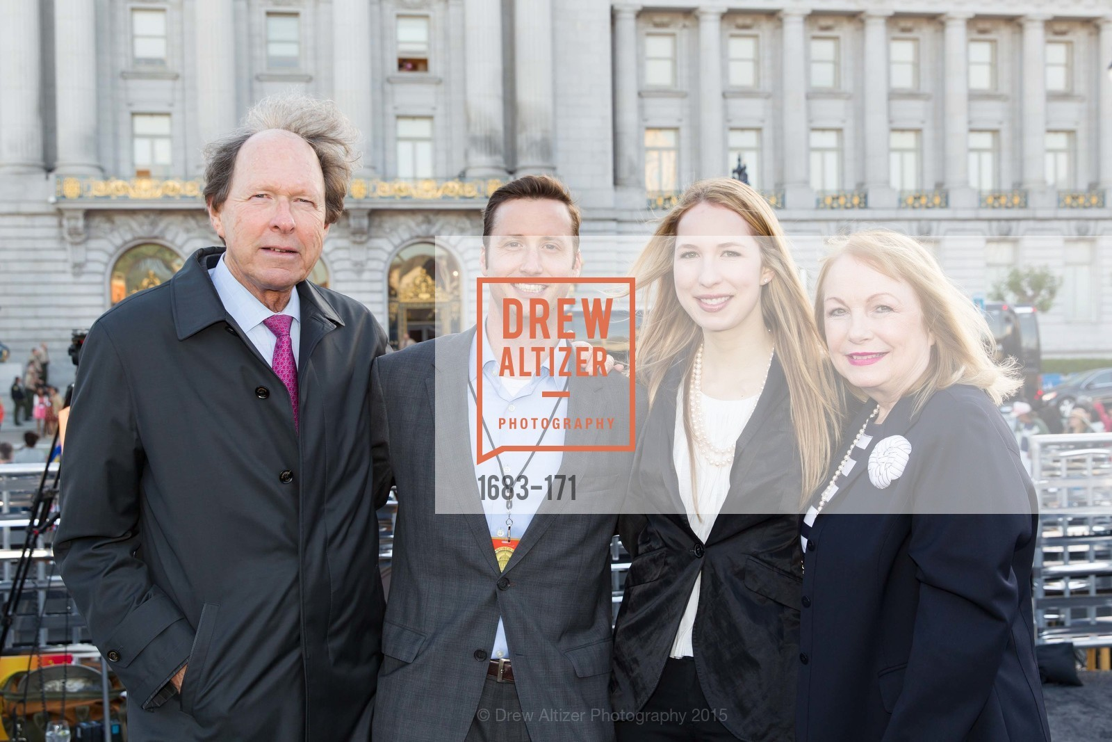 Rick Colsky, John Gavin, Kristin Gavin, Susan Colsky, San Francisco City Hall Centennial Celebration, Civic Center Plaza, June 18th, 2015