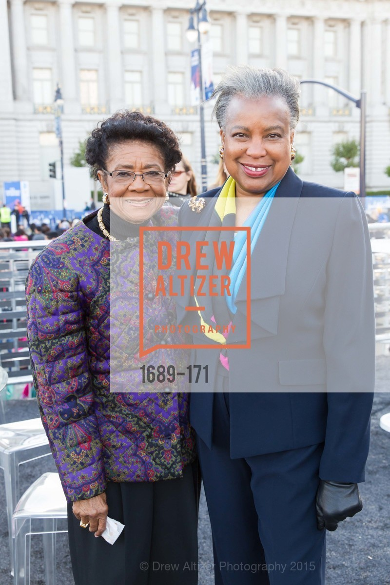 Belva Davis, Francee Covington, San Francisco City Hall Centennial Celebration, Civic Center Plaza, June 18th, 2015,Drew Altizer, Drew Altizer Photography, full-service agency, private events, San Francisco photographer, photographer california