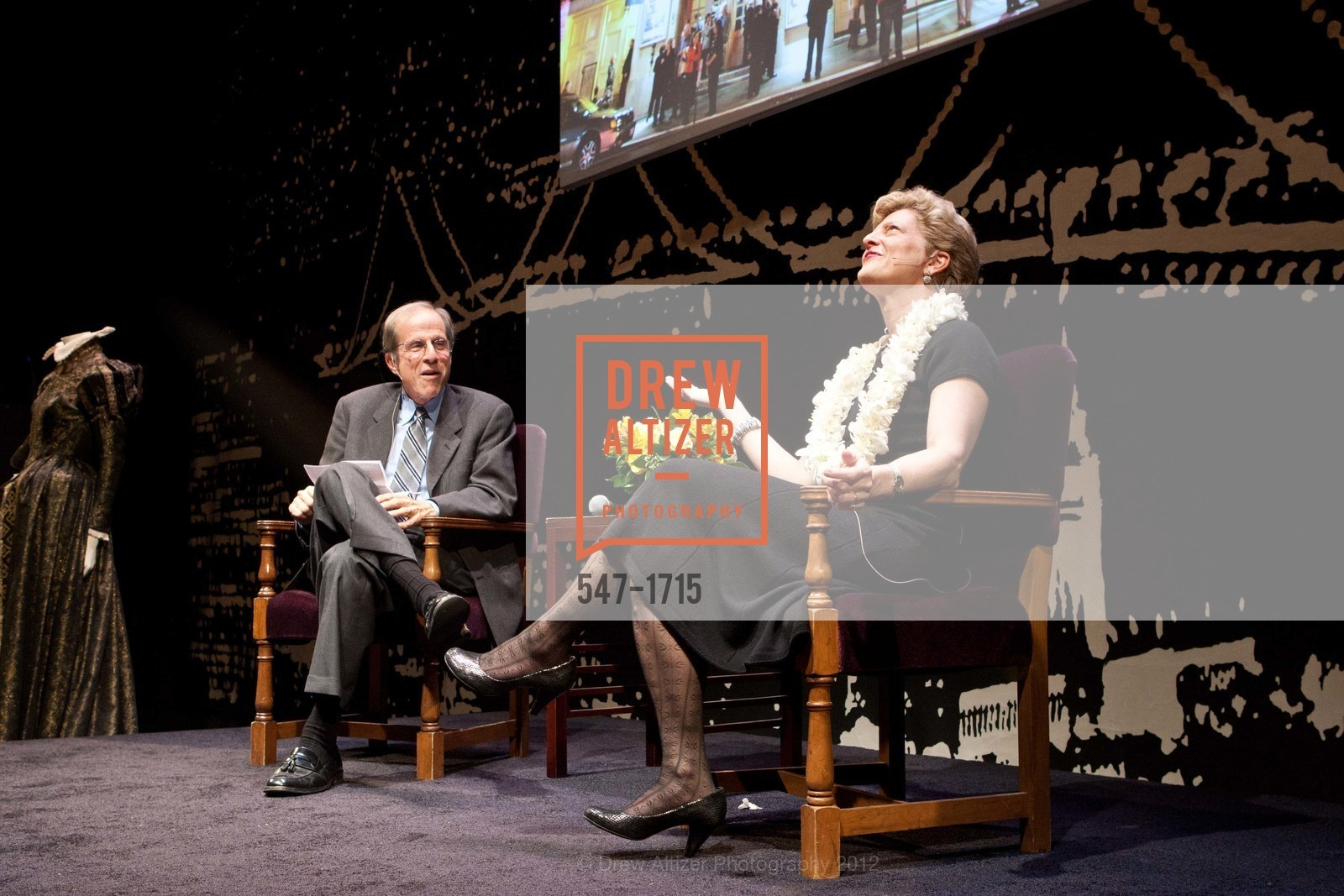 Michael Krasny, Carey Perloff, Photo #547-1715