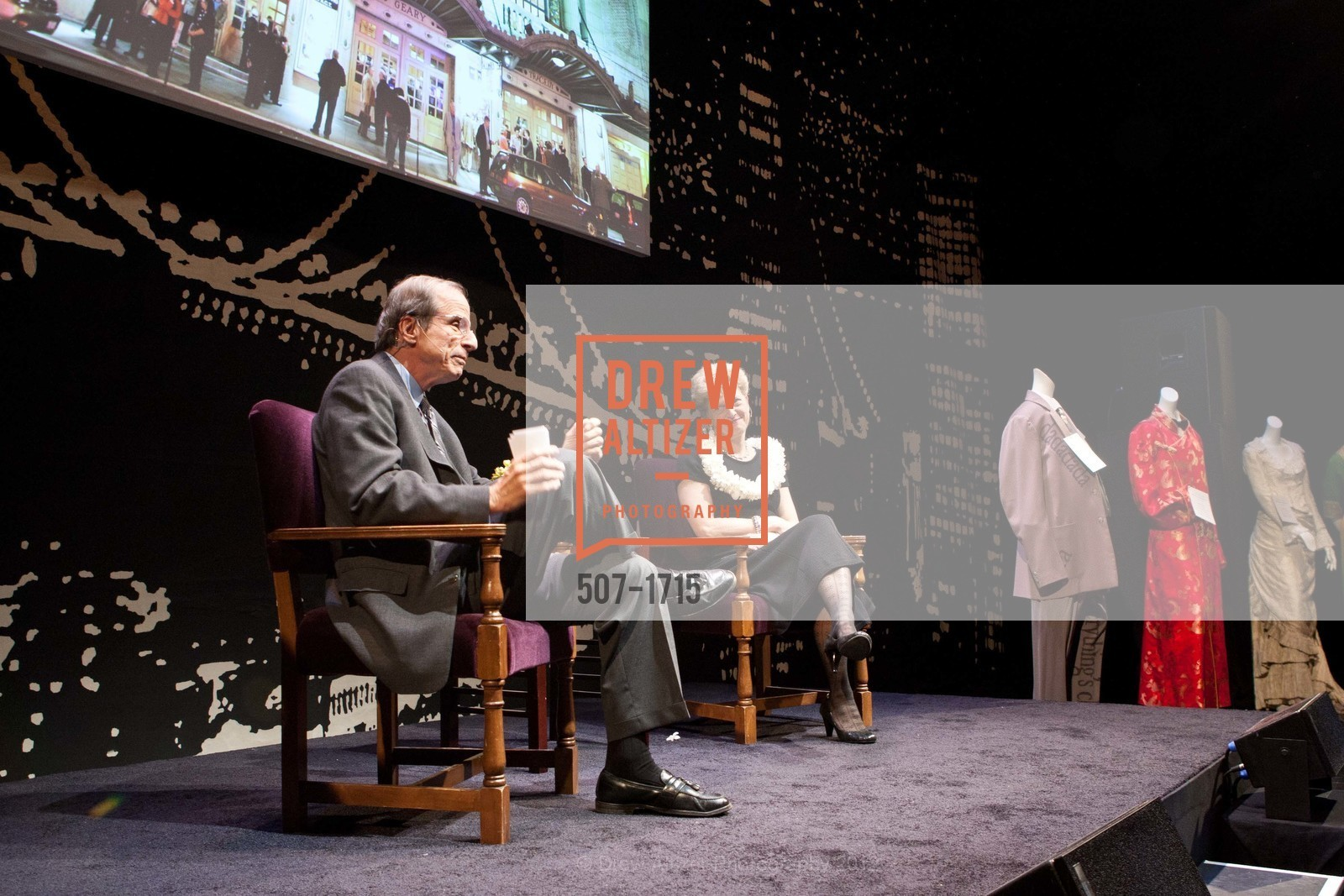 Michael Krasny, Carey Perloff, Photo #507-1715
