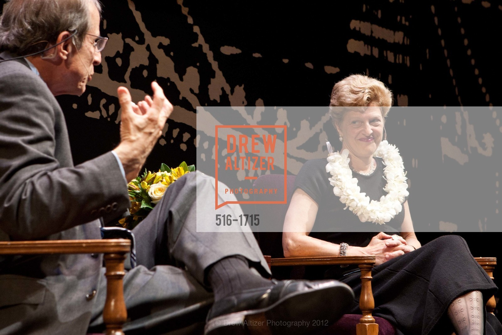 Michael Krasny, Carey Perloff, Photo #516-1715