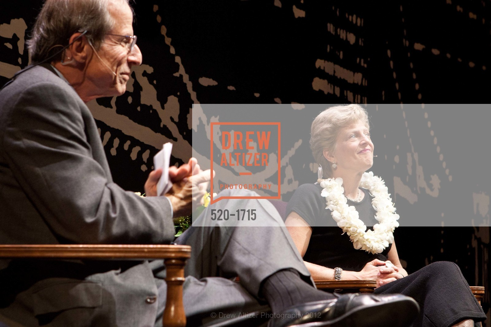 Michael Krasny, Carey Perloff, Photo #520-1715