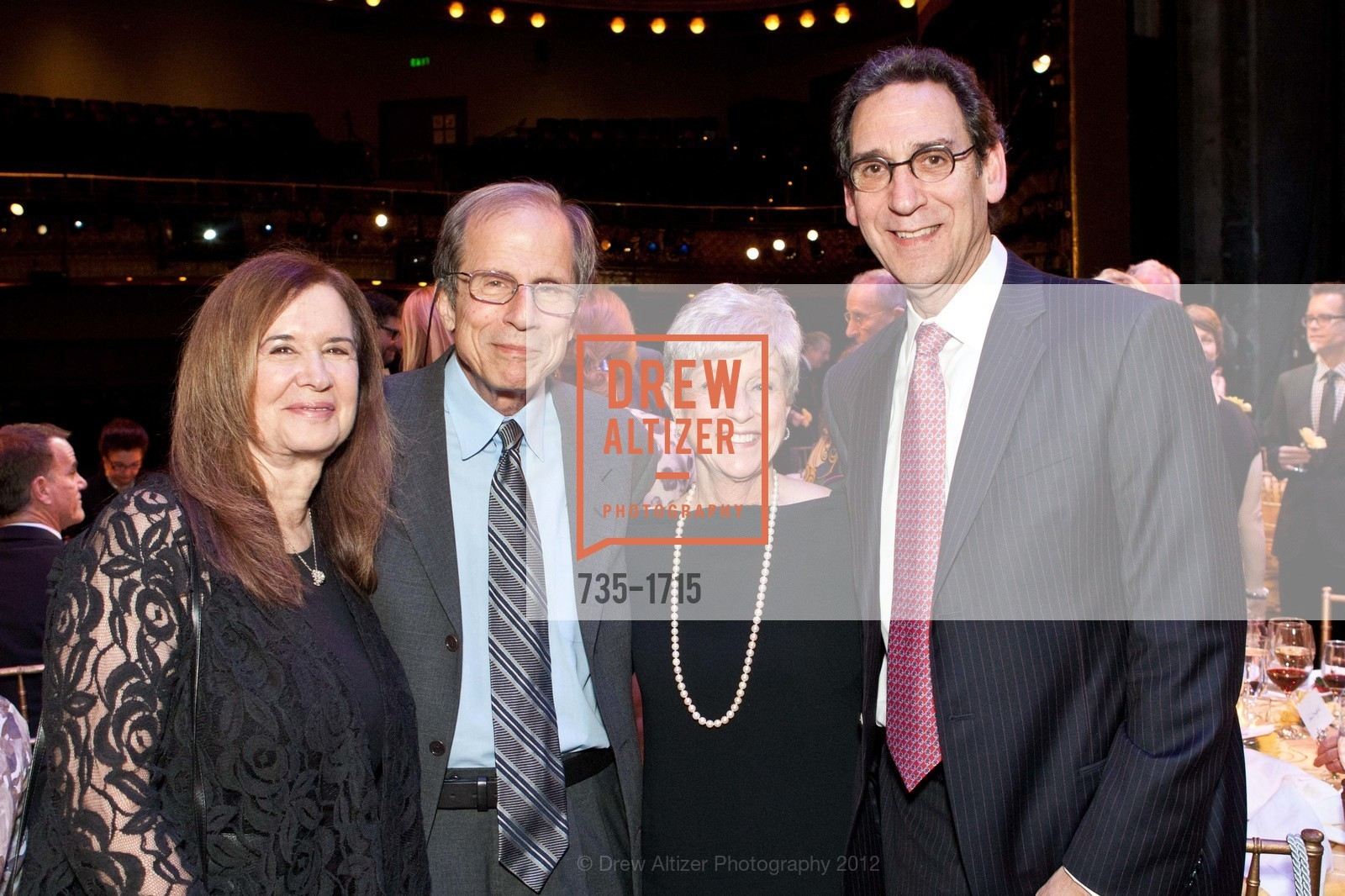 Leslie Krasny, Michael Krasny, Nancy Livingston, Fred Levin, Photo #735-1715