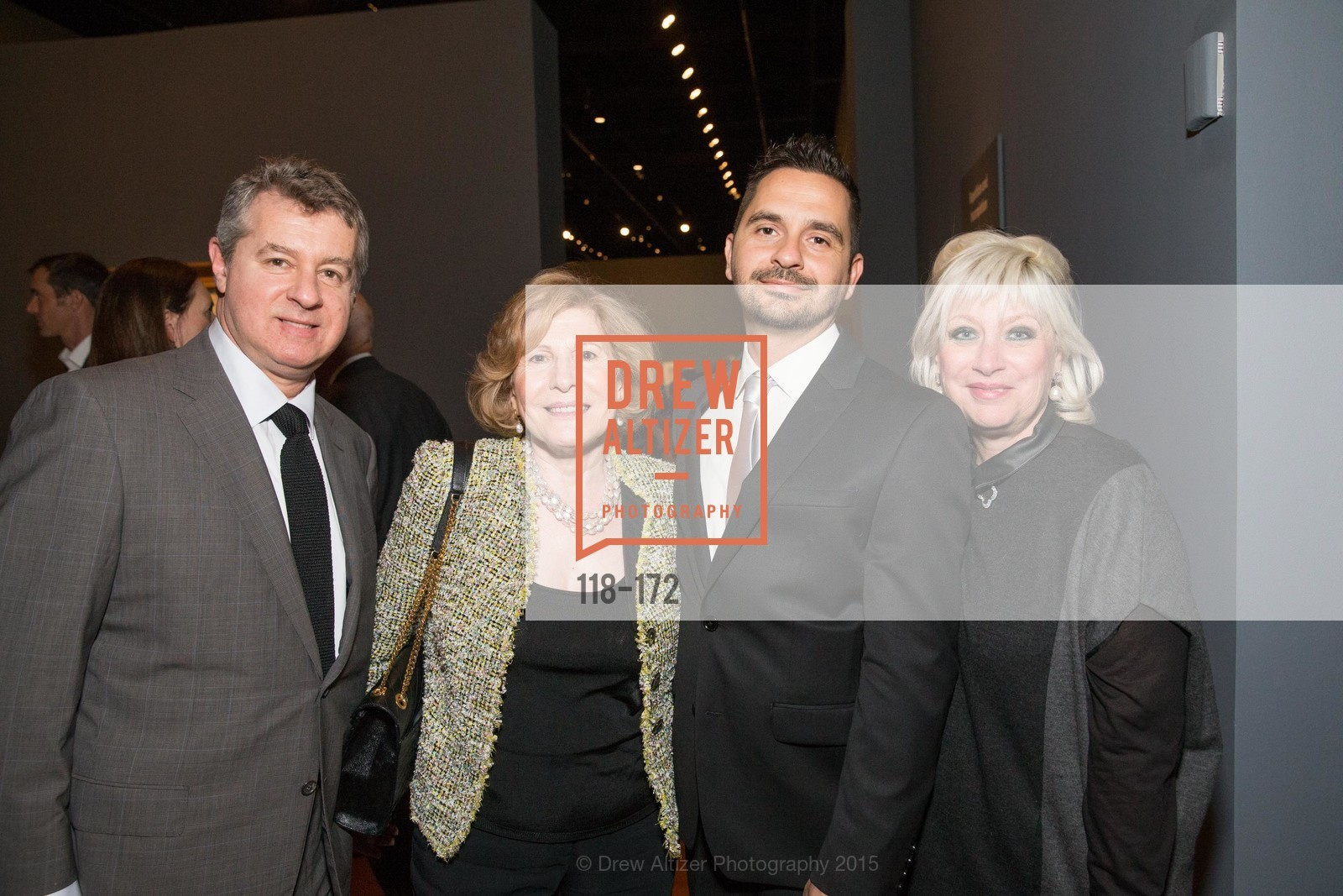 Peter Clerides, Tula Mouroufas, Chris Maroufas, Thalia Stratton, J.M.W. Turner: Painting Set Free opening reception, de Young Museum, June 17th, 2015,Drew Altizer, Drew Altizer Photography, full-service agency, private events, San Francisco photographer, photographer california