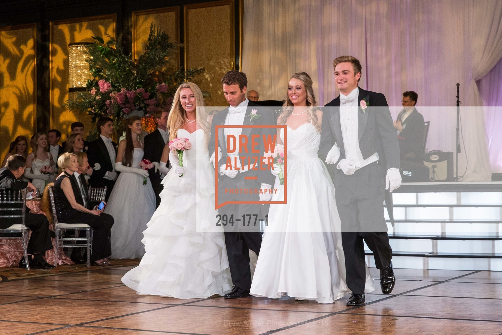 Mary Grinnell, Michael Grinnell II, Elizabeth Grayson, Henry Griffith Callender, The 2015 San Francisco Debutante Ball, The Westin St. Francis San Francisco Union Square. 335 Powell St, June 20th, 2015