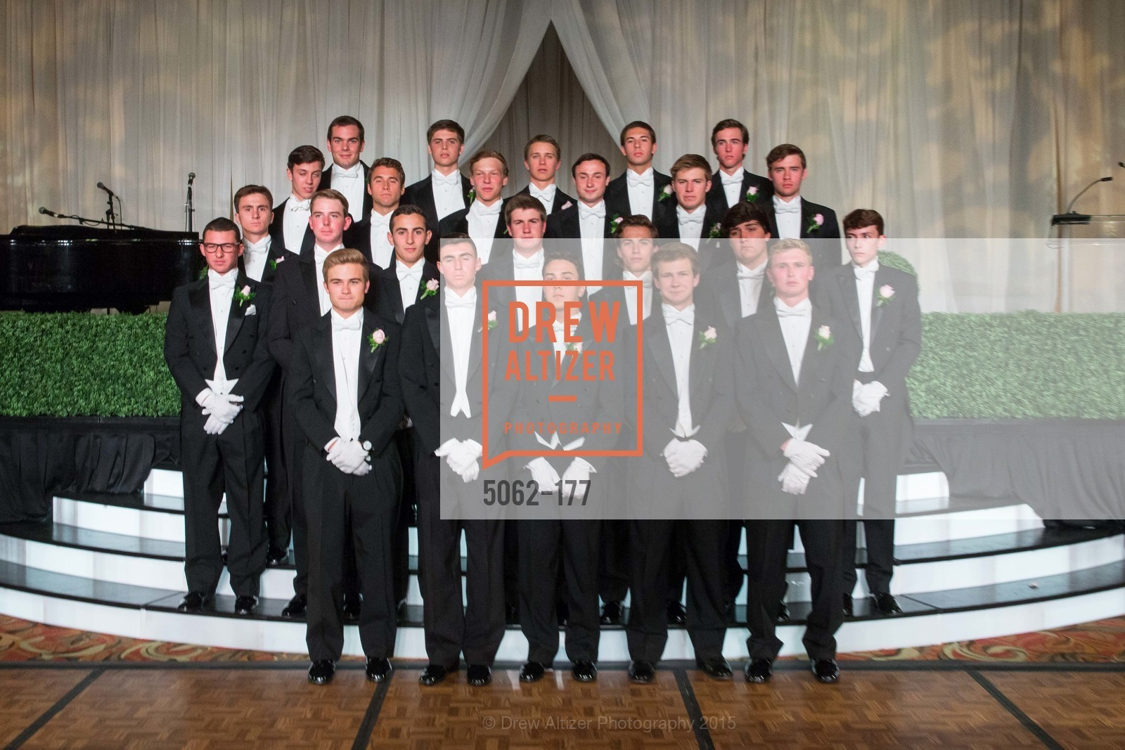St ROW Henry Griffith Callender, Elias Morrison Schwartz, Kai Otto Fukami Vogel, TJ Polite, Luca Sullivan, 2nd ROW Parker Wyatt Silverman, Jack Andrew Kariotis, William Hibbard Dana II, Maxwell Tucker Brenner, John Bernard Travers, Connor Thomas King-Roberts, Michael Jeffrey King, Alexander James Douglas, 3rd ROW William Behnke Jr., Paul James Campana, Michael Grinnell II, Luke Rosser Edwards, Kevin Michael Mannix II, Daniel Conte, Angelo Matteo Sangiacomo, Joseph Jennison Ladd, Brendan William Dunlap, The 2015 San Francisco Debutante Ball, The Westin St. Francis San Francisco Union Square. 335 Powell St, June 20th, 2015,Drew Altizer, Drew Altizer Photography, full-service event agency, private events, San Francisco photographer, photographer California
