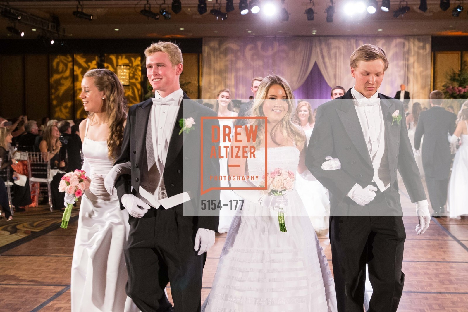 Sarah Elisabeth Jackmauh, Luca Sullivan, Katherine Hamilton Harris, Luke Rosser Edwards, The 2015 San Francisco Debutante Ball, The Westin St. Francis San Francisco Union Square. 335 Powell St, June 20th, 2015
