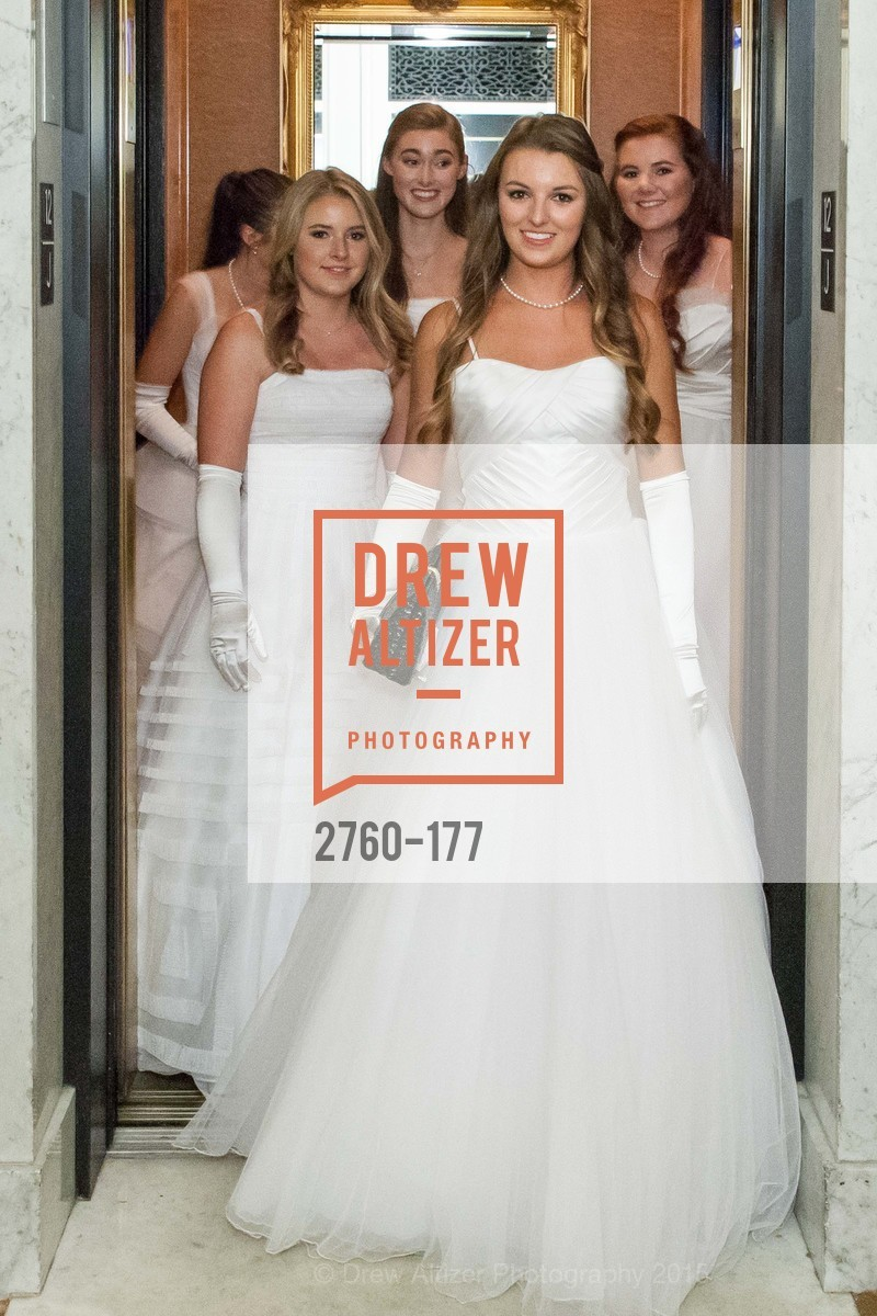 Katherine Hamilton Harris, Jennifer Hannah Baylis, Madeleine Elizabeth Lamm, Rachael Jayne Maier, Kendall Marion Finnegan, The 2015 San Francisco Debutante Ball, The Westin St. Francis San Francisco Union Square. 335 Powell St, June 20th, 2015,Drew Altizer, Drew Altizer Photography, full-service event agency, private events, San Francisco photographer, photographer California