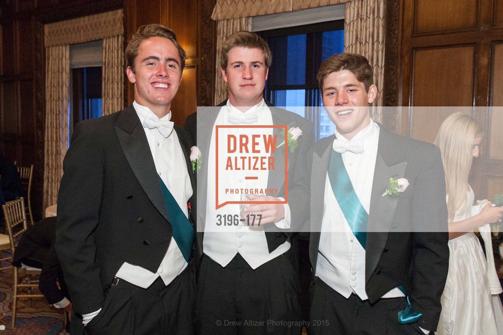 Henry Buckingham, John Bernard Travers, Quentin Favia, The 2015 San Francisco Debutante Ball, The Westin St. Francis San Francisco Union Square. 335 Powell St, June 20th, 2015,Drew Altizer, Drew Altizer Photography, full-service agency, private events, San Francisco photographer, photographer california
