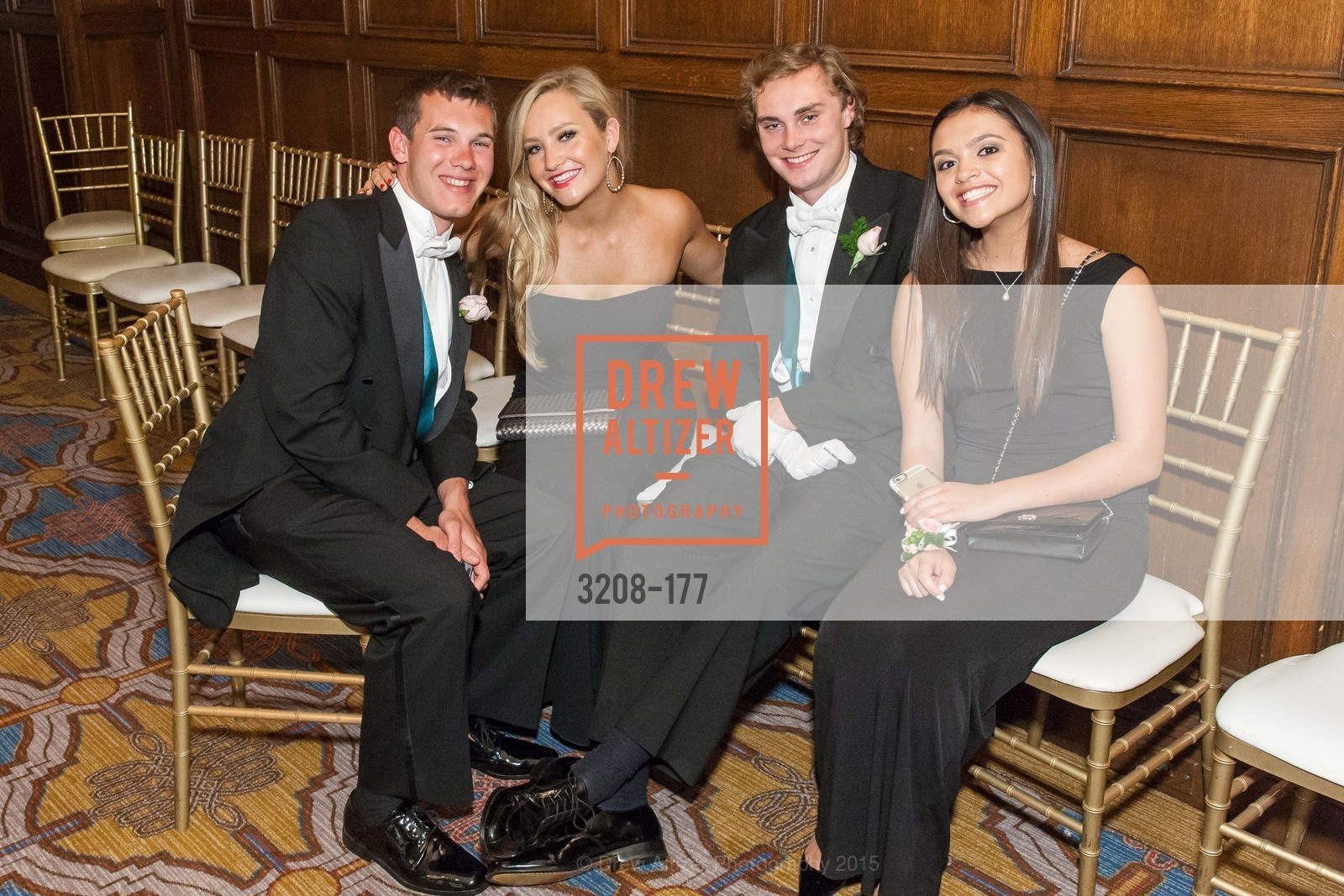 Paul Maxwell, Michaela Papale, Cole Steigerwald, Samantha Dilley, The 2015 San Francisco Debutante Ball, The Westin St. Francis San Francisco Union Square. 335 Powell St, June 20th, 2015,Drew Altizer, Drew Altizer Photography, full-service agency, private events, San Francisco photographer, photographer california