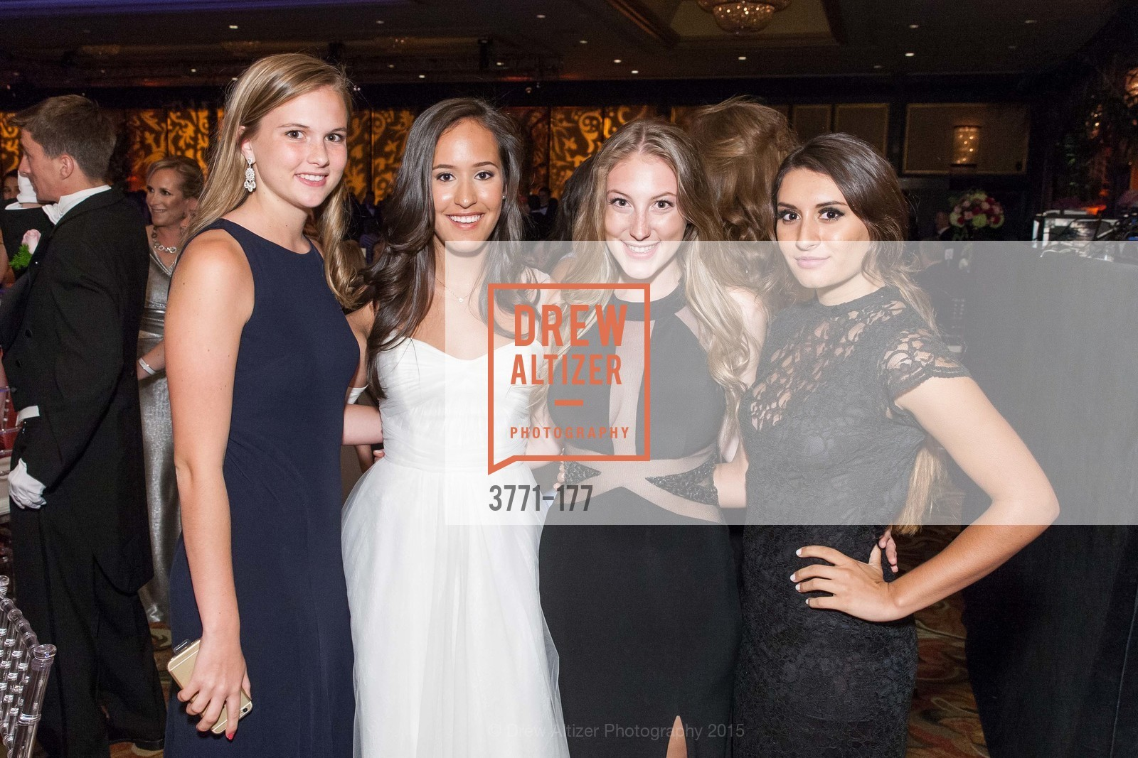 Annie Williams, Solange Celeste Soward, Aislinn Cushing, Sienna Soward, The 2015 San Francisco Debutante Ball, The Westin St. Francis San Francisco Union Square. 335 Powell St, June 20th, 2015,Drew Altizer, Drew Altizer Photography, full-service agency, private events, San Francisco photographer, photographer california