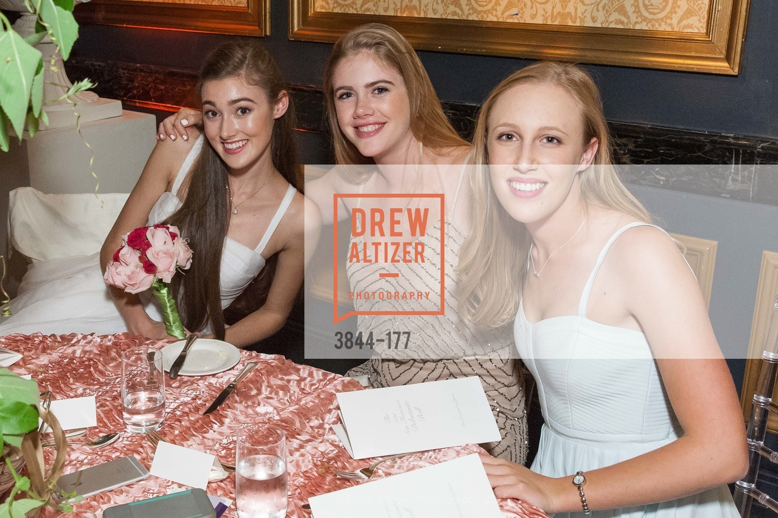 Madeleine Elizabeth Lamm, Caelyn Dovey, Alyssa Ivancezich, The 2015 San Francisco Debutante Ball, The Westin St. Francis San Francisco Union Square. 335 Powell St, June 20th, 2015,Drew Altizer, Drew Altizer Photography, full-service agency, private events, San Francisco photographer, photographer california