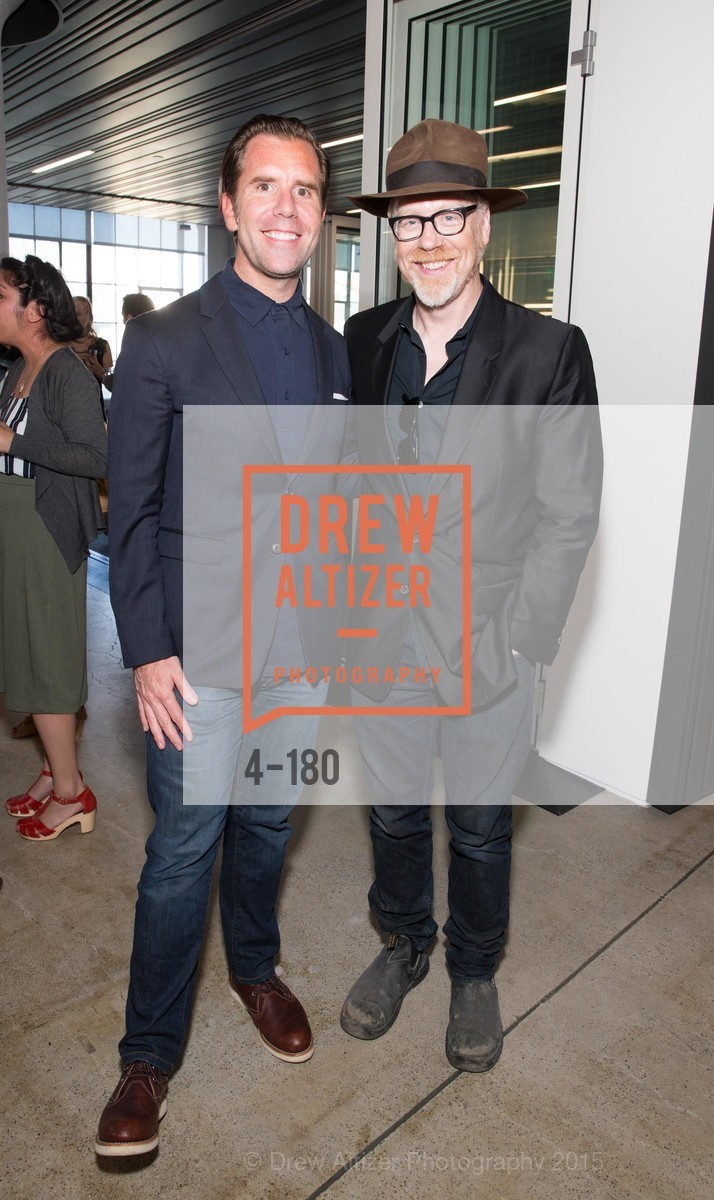 Scott Dadich, Adam Savage, Wired Magazine July Cover Release Celebration at New Wired Office, Wired Magazine Offices. 520 3rd Street, June 24th, 2015,Drew Altizer, Drew Altizer Photography, full-service agency, private events, San Francisco photographer, photographer california