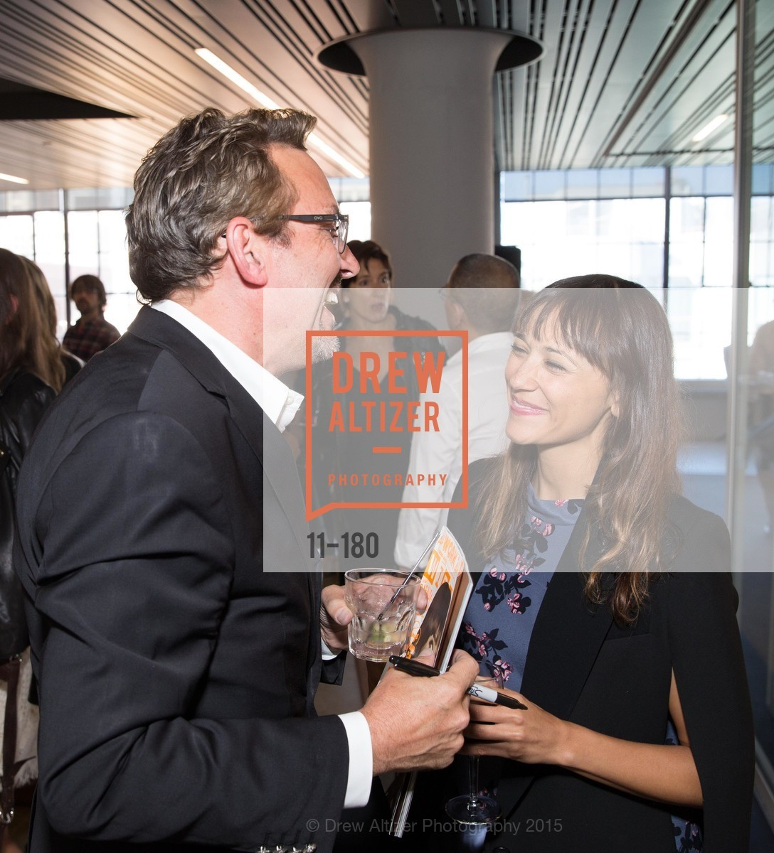 Art Streiber, Rashida Jones, Wired Magazine July Cover Release Celebration at New Wired Office, Wired Magazine Offices. 520 3rd Street, June 24th, 2015,Drew Altizer, Drew Altizer Photography, full-service agency, private events, San Francisco photographer, photographer california