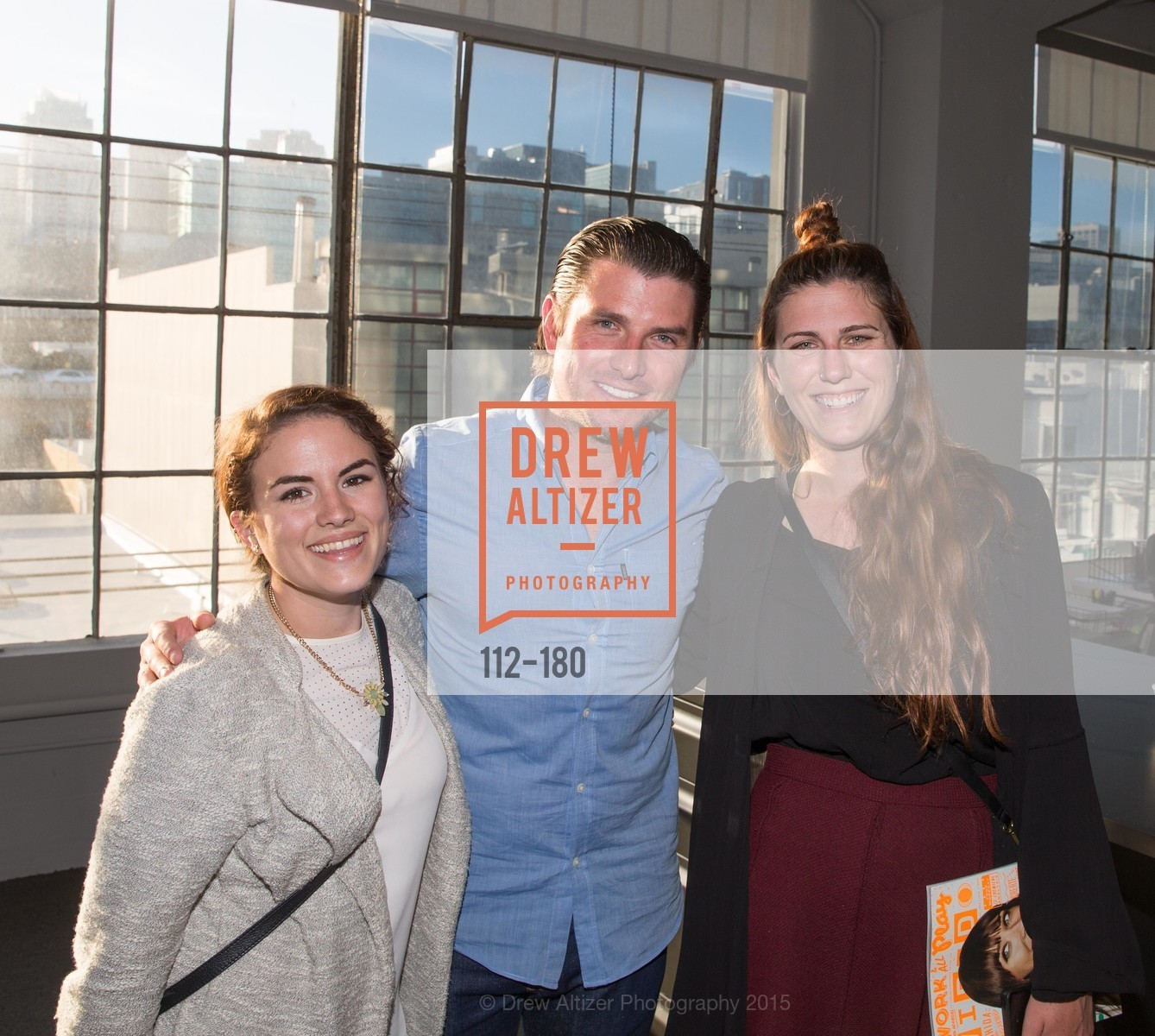 Kate Emberley, Giovanni Dorin, Haley Wise, Wired Magazine July Cover Release Celebration at New Wired Office, Wired Magazine Offices. 520 3rd Street, June 24th, 2015,Drew Altizer, Drew Altizer Photography, full-service agency, private events, San Francisco photographer, photographer california