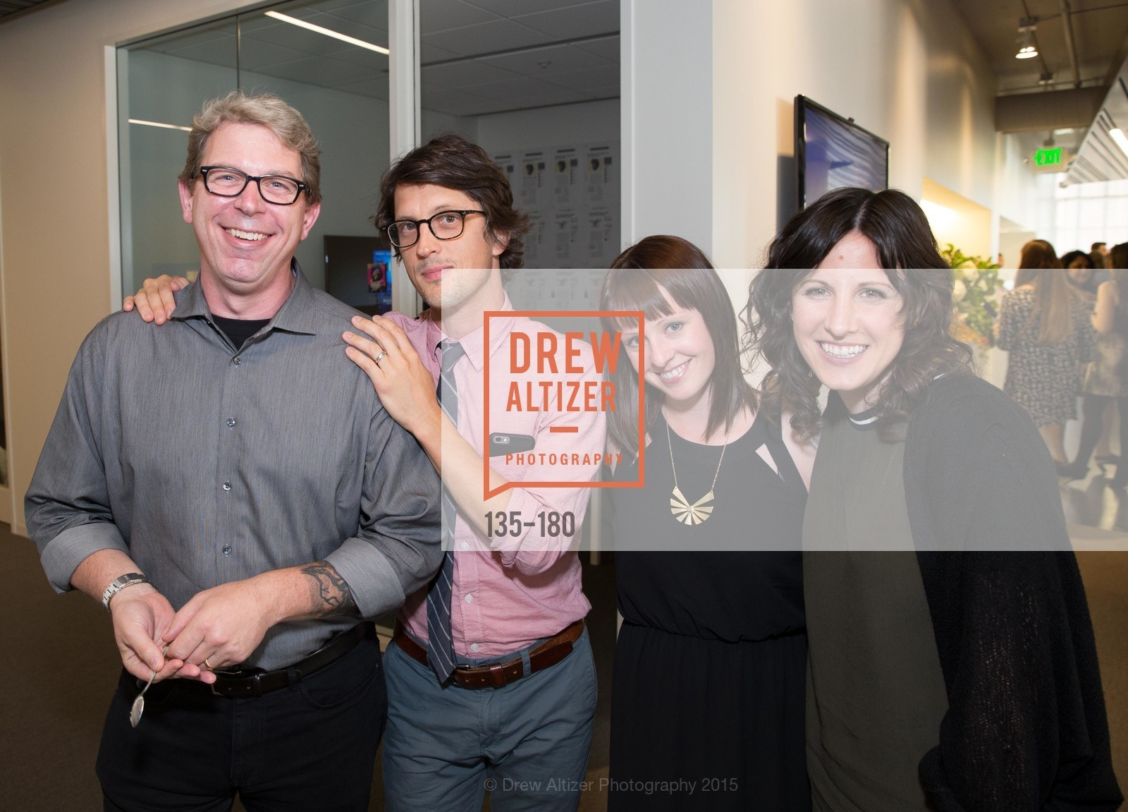 Chuck Squatriglia, Neil Harris, Christie Hemm Klok, Jenna Garrett, Wired Magazine July Cover Release Celebration at New Wired Office, Wired Magazine Offices. 520 3rd Street, June 24th, 2015,Drew Altizer, Drew Altizer Photography, full-service agency, private events, San Francisco photographer, photographer california