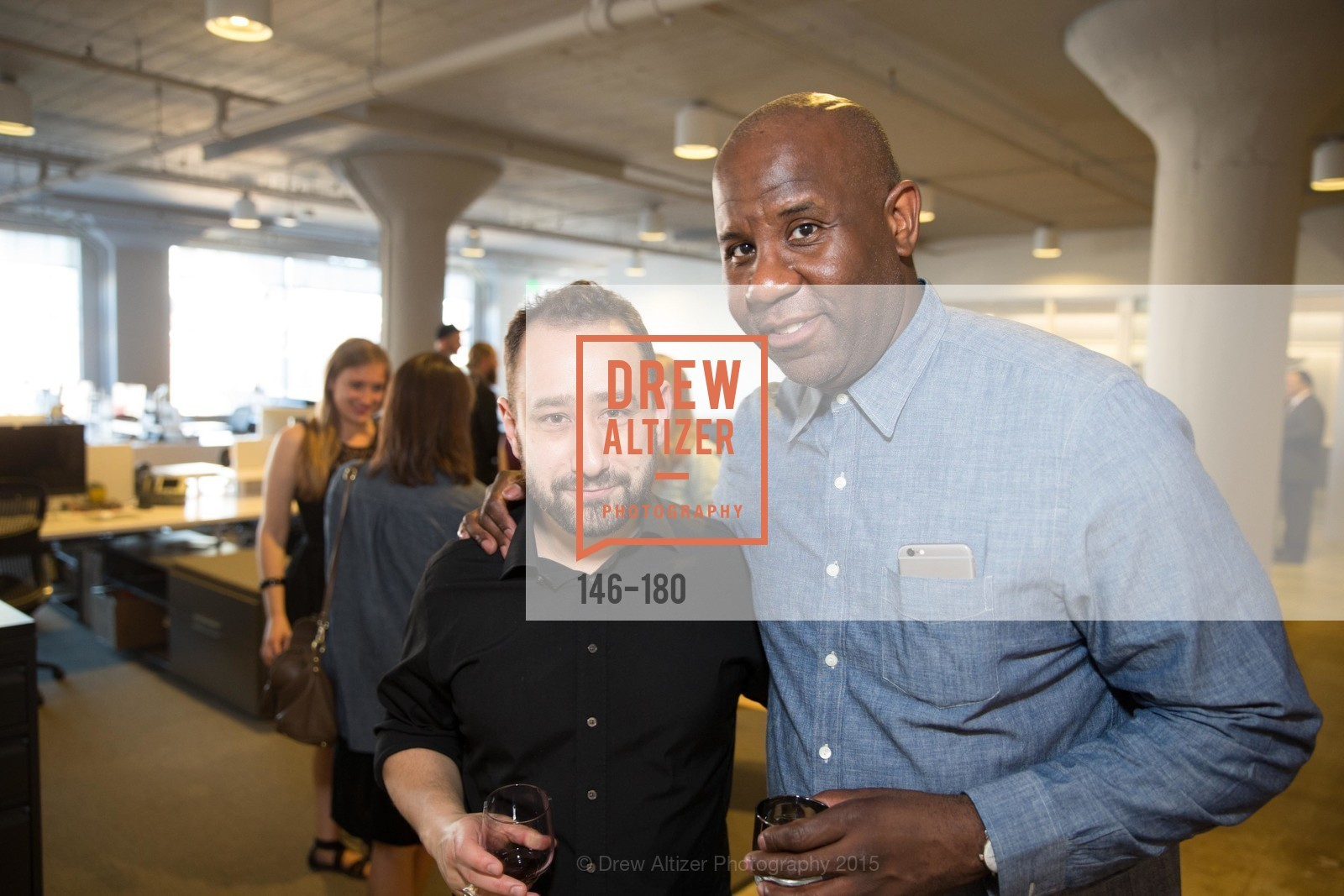 Joe Brown, Wyatt Mitchell, Wired Magazine July Cover Release Celebration at New Wired Office, Wired Magazine Offices. 520 3rd Street, June 24th, 2015,Drew Altizer, Drew Altizer Photography, full-service agency, private events, San Francisco photographer, photographer california