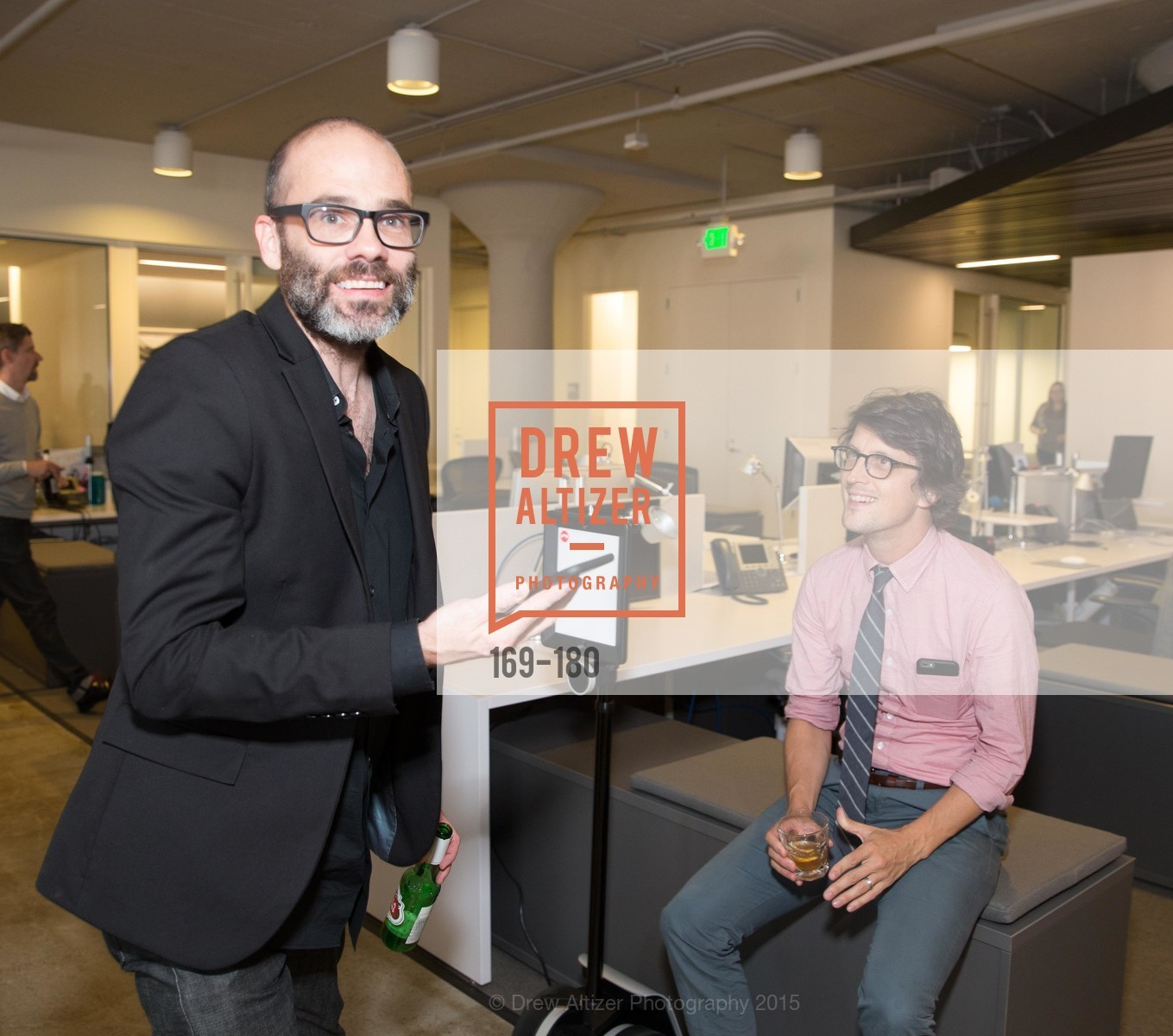 Patrick Witty, Neil Harris, Wired Magazine July Cover Release Celebration at New Wired Office, Wired Magazine Offices. 520 3rd Street, June 24th, 2015,Drew Altizer, Drew Altizer Photography, full-service agency, private events, San Francisco photographer, photographer california
