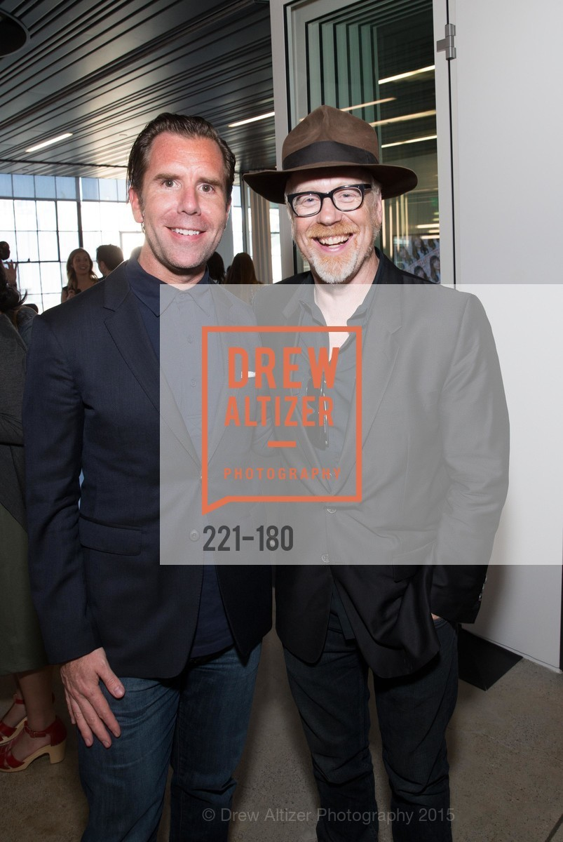 Scott Dadich, Adam Savage, Wired Magazine July Cover Release Celebration at New Wired Office, Wired Magazine Offices. 520 3rd Street, June 24th, 2015