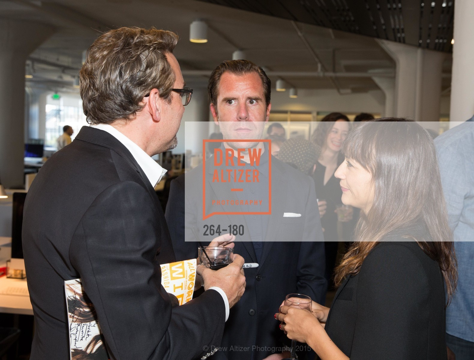 Art Streiber, Scott Dadich, Rashida Jones, Wired Magazine July Cover Release Celebration at New Wired Office, Wired Magazine Offices. 520 3rd Street, June 24th, 2015,Drew Altizer, Drew Altizer Photography, full-service agency, private events, San Francisco photographer, photographer california