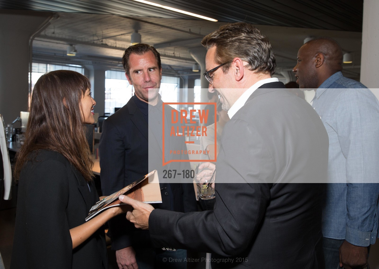 Rashida Jones, Scott Dadich, Art Streiber, Wired Magazine July Cover Release Celebration at New Wired Office, Wired Magazine Offices. 520 3rd Street, June 24th, 2015,Drew Altizer, Drew Altizer Photography, full-service agency, private events, San Francisco photographer, photographer california