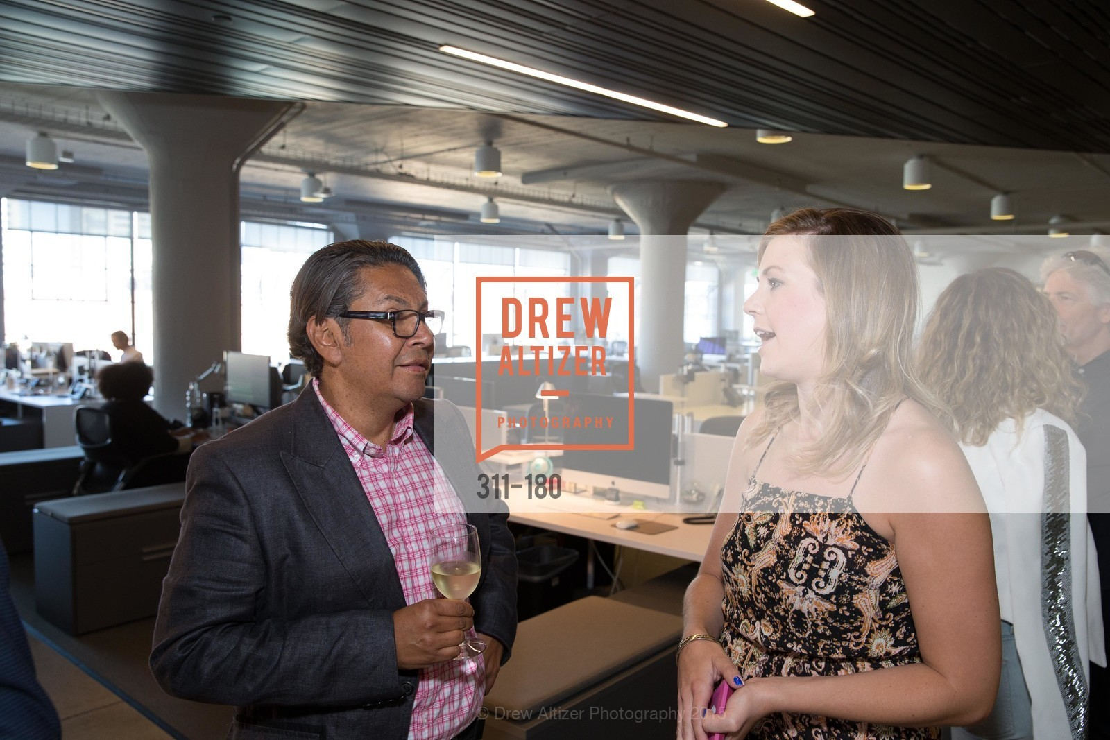 David Castro, Chelsea Orman, Wired Magazine July Cover Release Celebration at New Wired Office, Wired Magazine Offices. 520 3rd Street, June 24th, 2015,Drew Altizer, Drew Altizer Photography, full-service agency, private events, San Francisco photographer, photographer california